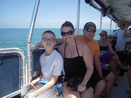 Island Boat Adventures : Our family enjoying the boat ride