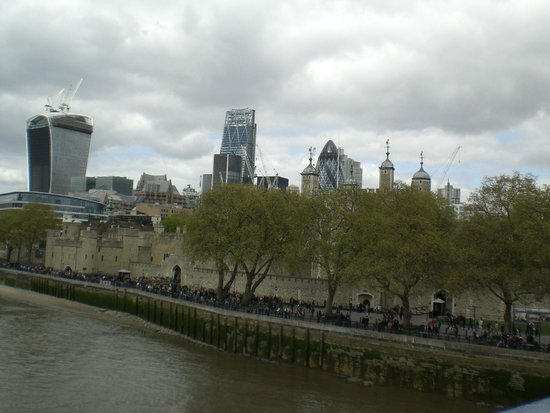 London Tower and Thames River