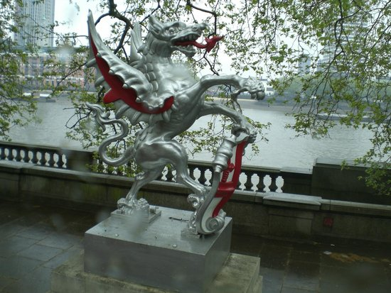 Dragon and Thames River