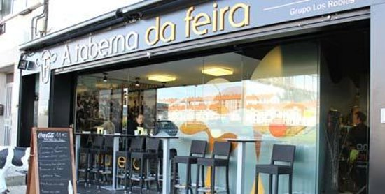 A Taberna da Feira: The outside of the restaurant