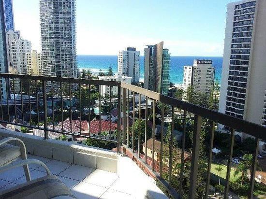 Genesis Apartments: View from the balcony
