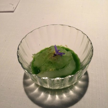 Pujol: 1st course shaved ice with lemon elixir
