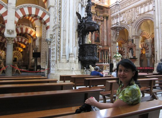 Moschee-Kathedrale (Mezquita de Córdoba): Vertical Capilla Mayor with prayer halls on both sides