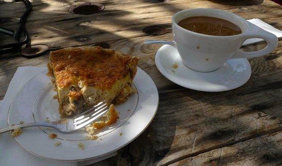 Delicious quiche & espresso