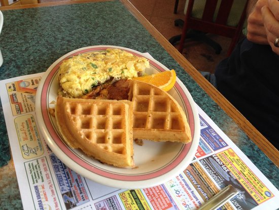 Augie's Omelette & Waffle: Omelet & half waffle combo