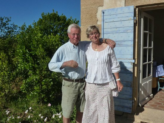 Mas Saint Michel: Our wonderful hosts, Jacques and Vicenta
