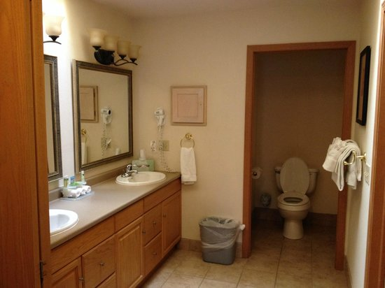 Holiday Inn Express Wisconsin Dells: Master Bathroom