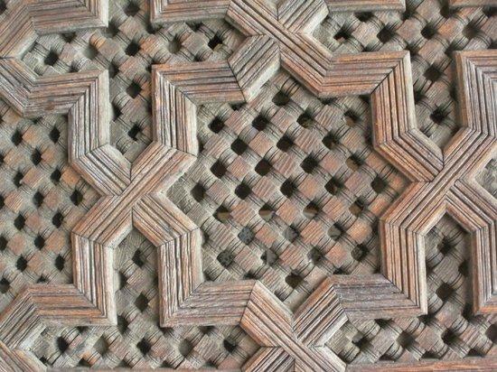 Medersa Bou Inania : detail of stone work