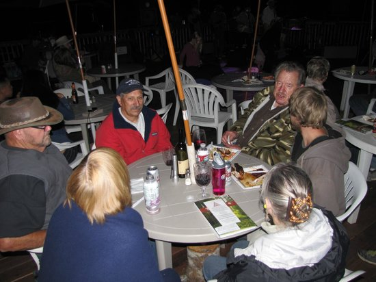 Kamp Klamath BBQ : Hours after the dinner, chatting with new friends