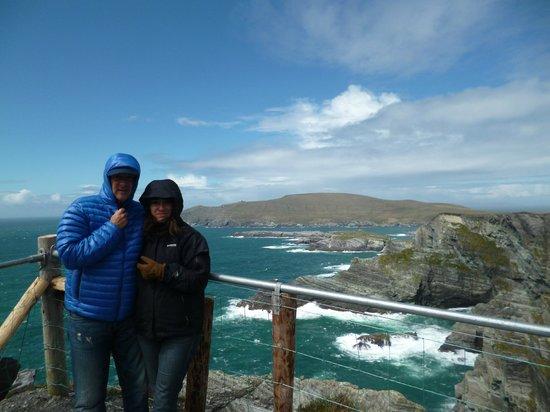 Kerry Cliffs : Muuucho viento!!!