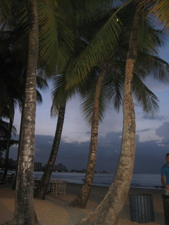 InterContinental San Juan: view from the beach restaurant