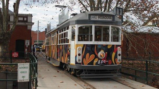 Bendigo Tramways: Ex Melbourne Tram outside the Depot