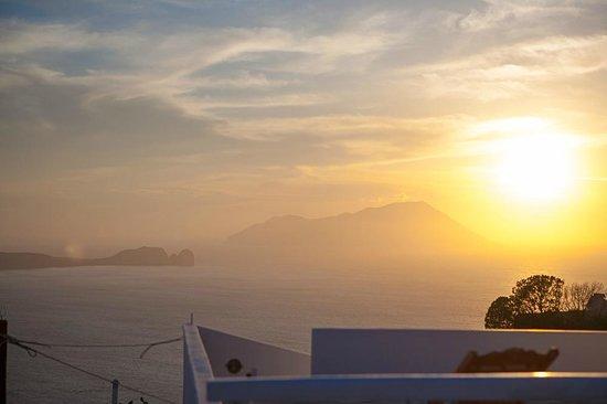 Archondoula Studios: Milos sunset from the balcony