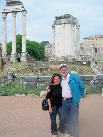 Jewish Roma Private Walking Tours : Me & Hubs during our tour of the Coliseum