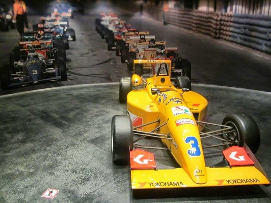 Grand Prix Museum: The open wheeler cars on display