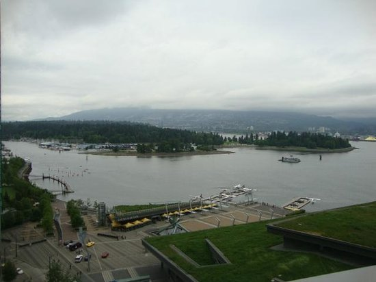 Fairmont Pacific Rim : View from the Gold Lounge Balcony