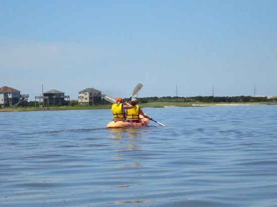 Frisco Woods Campground : Kayaking on the sound