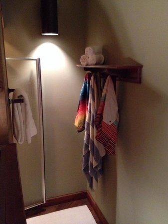 Rams Head Inn: Shower in the Windsor