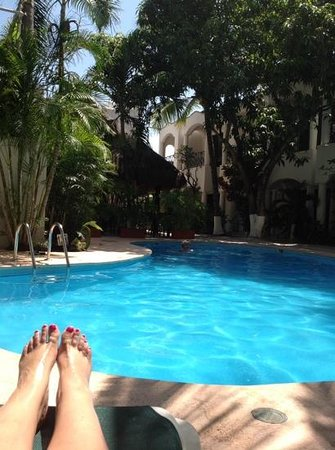 Hacienda Paradise Boutique Hotel by Xperience Hotels : beautiful pool and courtyard
