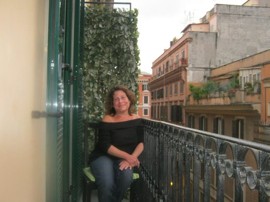Me, on our lovely balcony at Mok'house B&B! Seriously- does it get better than this?!
