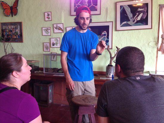 Monteverde Butterfly Garden (Jardin de Mariposas): Michael giving an entertaining tour