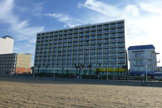 Holiday Inn Express Hotel & Suites Virginia Beach Oceanfront: view from the beach