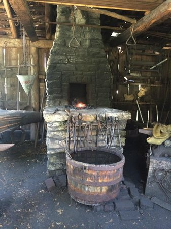 Dallas Heritage Village at Old City Park: fire and iron