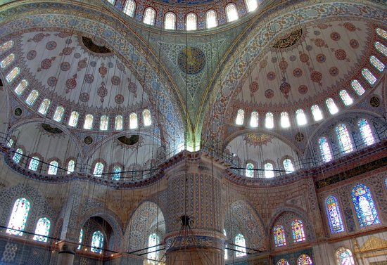 Mosquée Bleue (Sultan Ahmet Camii) : Ceiling of the Blue Mosque