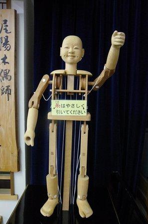 Inuyama City Cultural Museum, Karakuri Museum: 自分で動かせるからくり人形 紐を引きながらの撮影なので一箇所しか動かせません