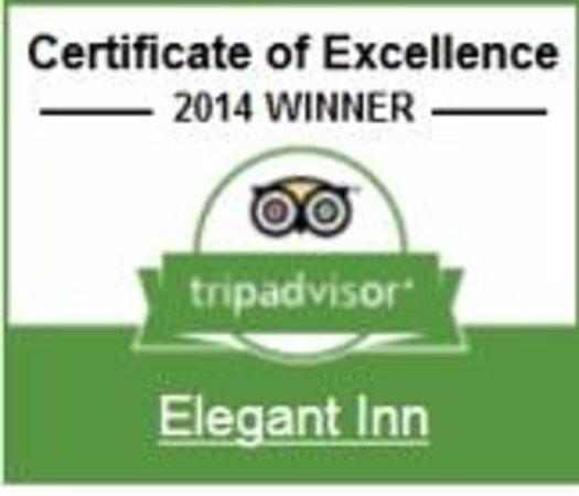 Elegant Inn: Tripadvisor's  2014 award