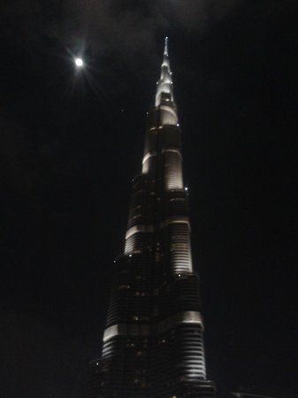 Burj Khalifa: Night view is also very cool