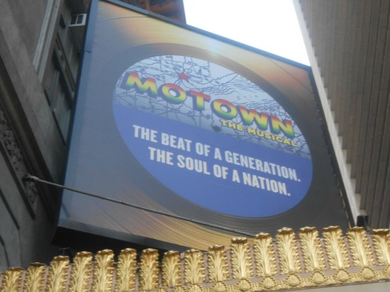 Motown The Musical on Broadway: Motown signage