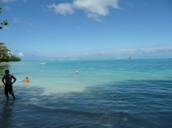 Relais Mahana : Vue de la plage