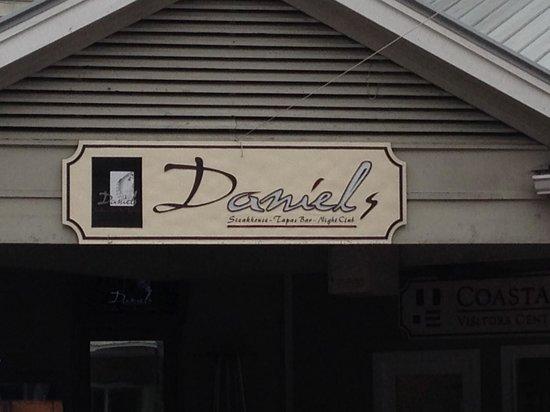 Crave by Daniel's : Front Sign of Daniel Restaurant on Hilton Head Island
