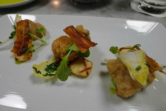 Manzo : veal sweetbreads with scallops