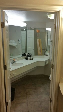 La Quinta Inn & Suites Dallas Arlington South: Bath area very clean.