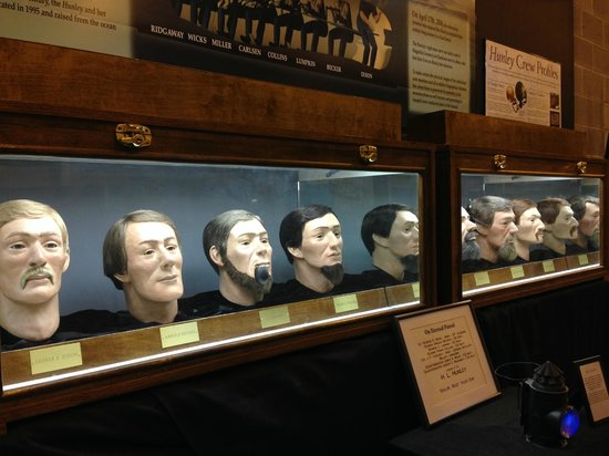 H. L. Hunley: reconstructed heads!
