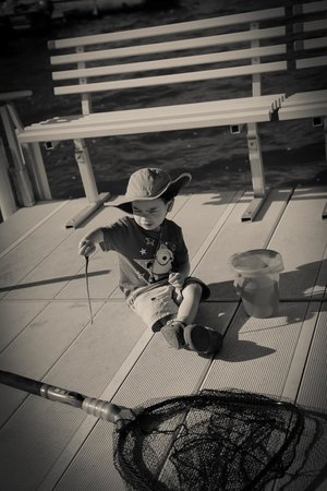 "Westridge Shores Resort: Playing with his ""sea creatures"""