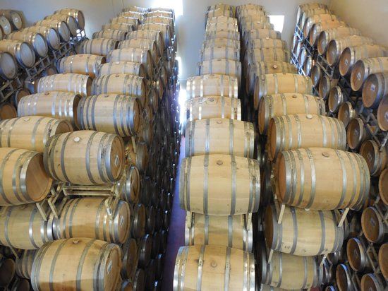 Sterling Vineyards: Aging barrels at Sterling