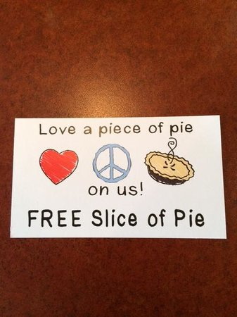 Grand Traverse Pie Company : Happy surprise in my bag!