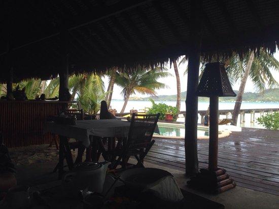 Eden Beach Hotel Bora Bora: Desde el restaurante.