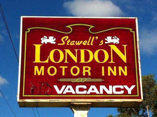London Motor Inn Sign