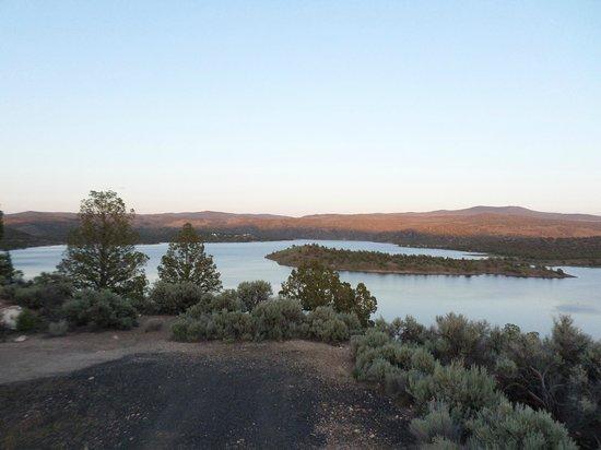 Prineville Reservoir State Park: Looking Over the Reservoir Near Sunset