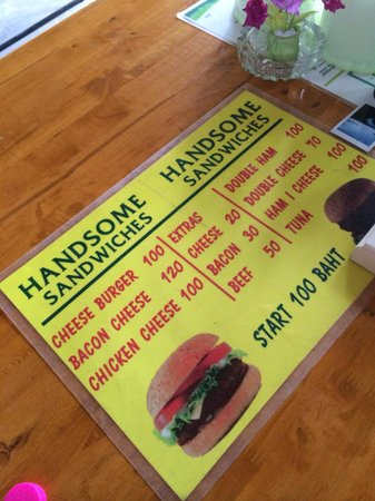 Handsome Sandwiches: The Menu