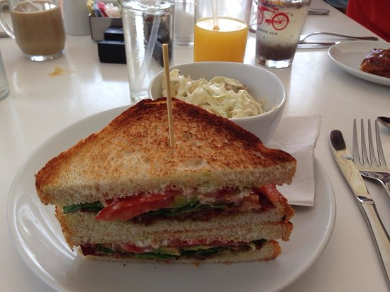 Morgan's: BLT with cole slaw - yum!!