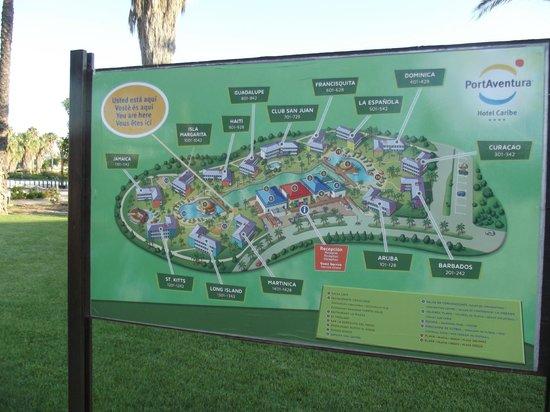 PortAventura Hotel Caribe : plan