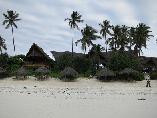 Azanzi Beach Hotel : The vhotel from the beach