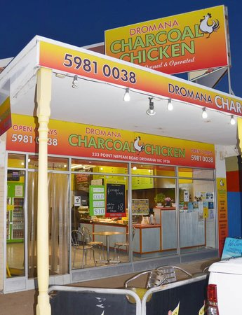 Dromana Charcoal Chicken: seats out the front for you and your mates!