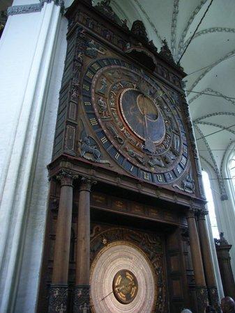 port of Rostock: The astronomical clock - built 1472