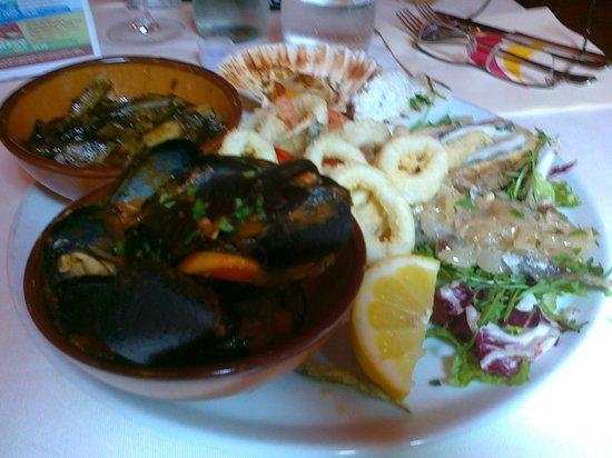 Faville : piatto unico di pesce